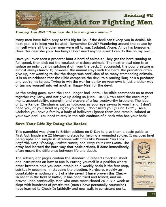 Pureheart Curriculum - First Aid for Fighting Men